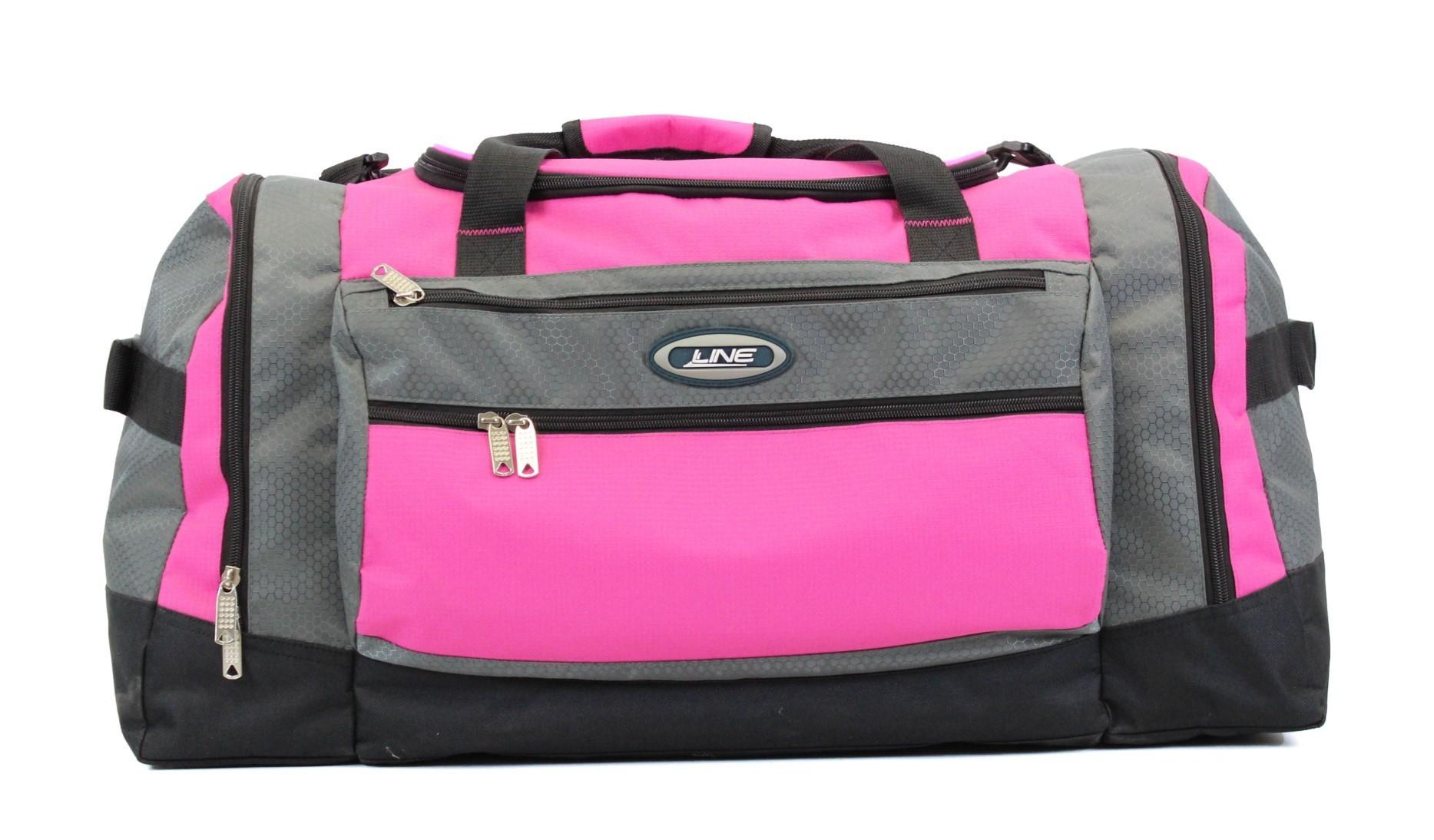 Line Travel Darius Weekend/Sporttas Grey/Pink