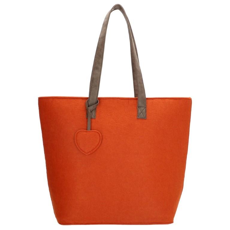 Beagles Dames Vilten Shopper 17536E-Brique