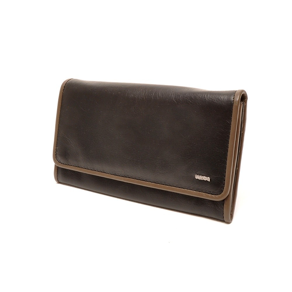Berba Soft 001-403 Ladies Wallet Black-Taupe