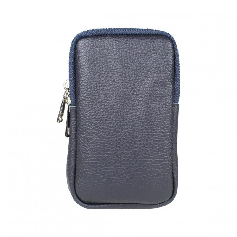 Baggyshop 'Call me up leather' Schoudertas - Donkerblauw (Zilver)