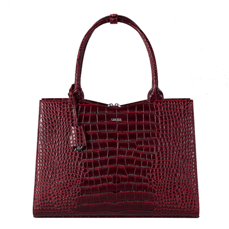 Socha Businessbag Crocodile Burgundy - 14
