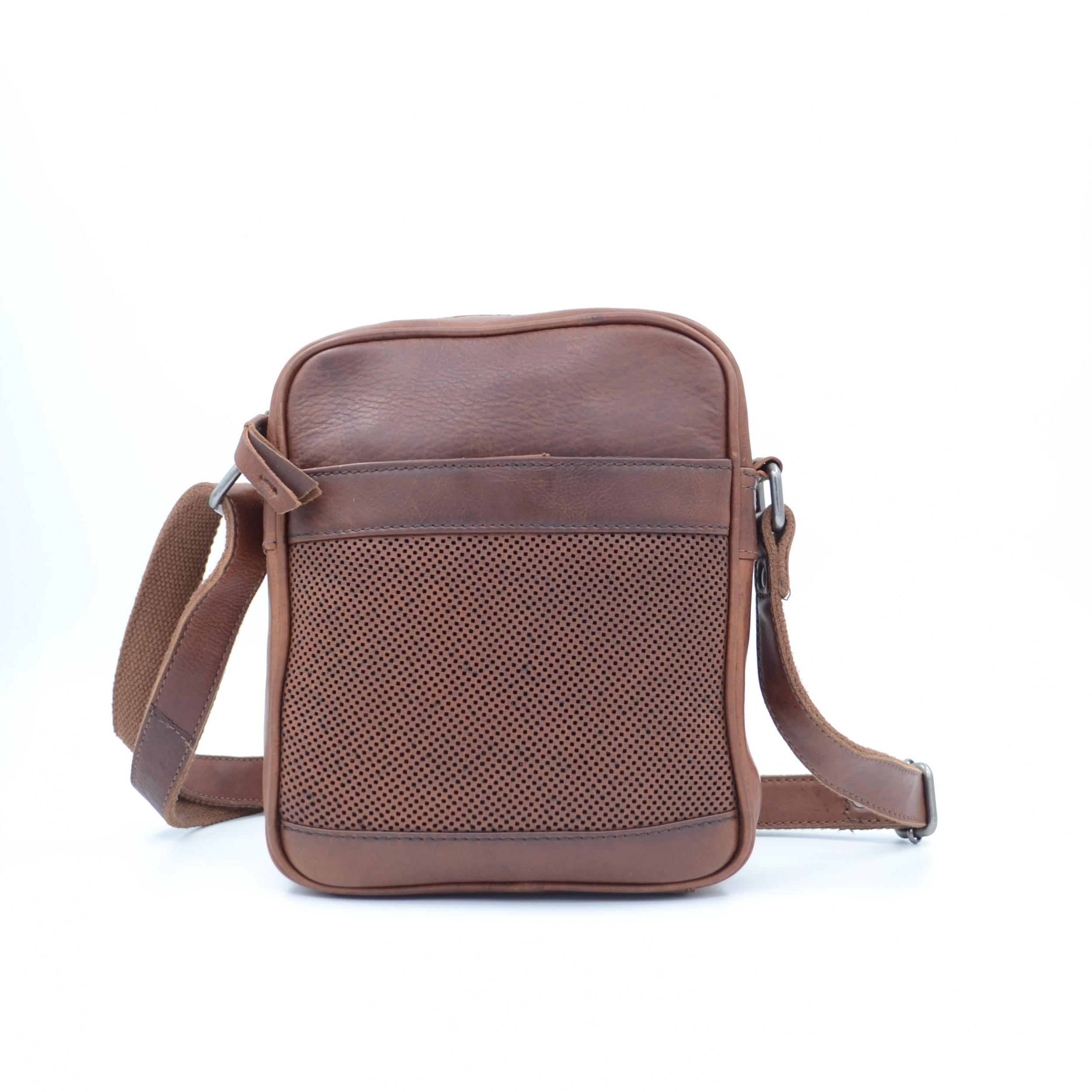 Leather Design Schoudertas DO20-7018 Tobacco