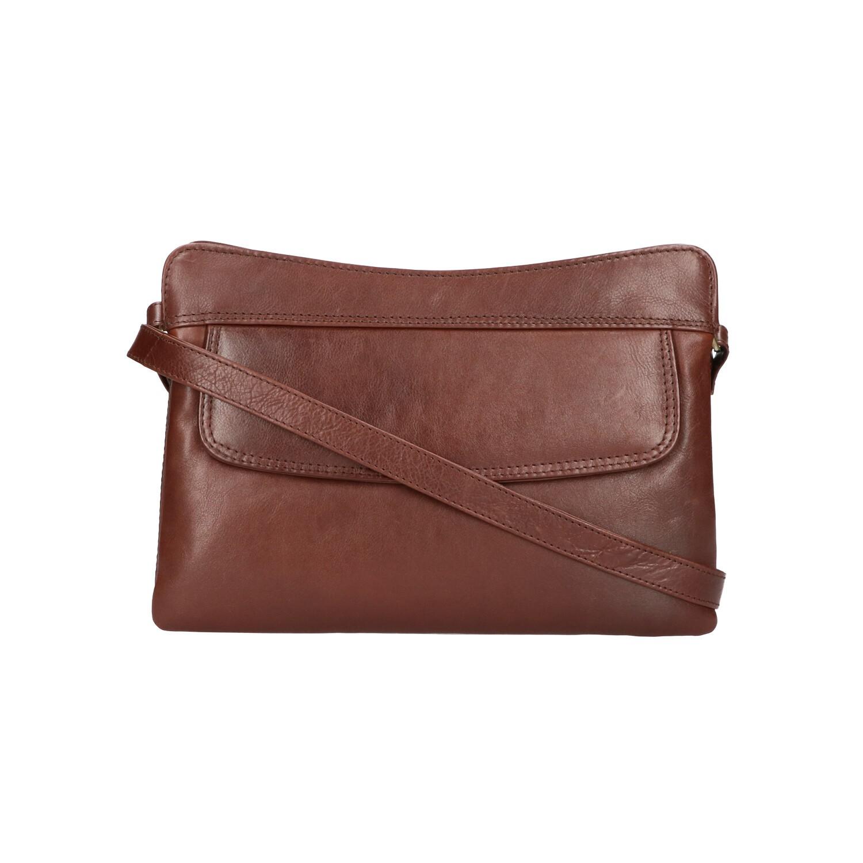 Leather Design Schoudertas CC 1325 Bruin