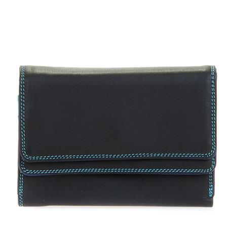 Mywalit Double Flap Purse/Wallet Black Pace
