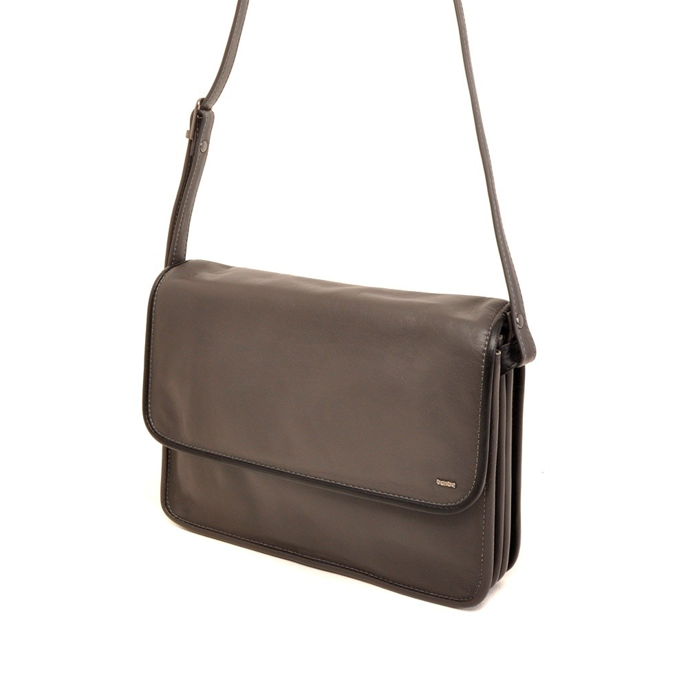 Berba Soft 005-576 Flap Bag Large Grey-Black