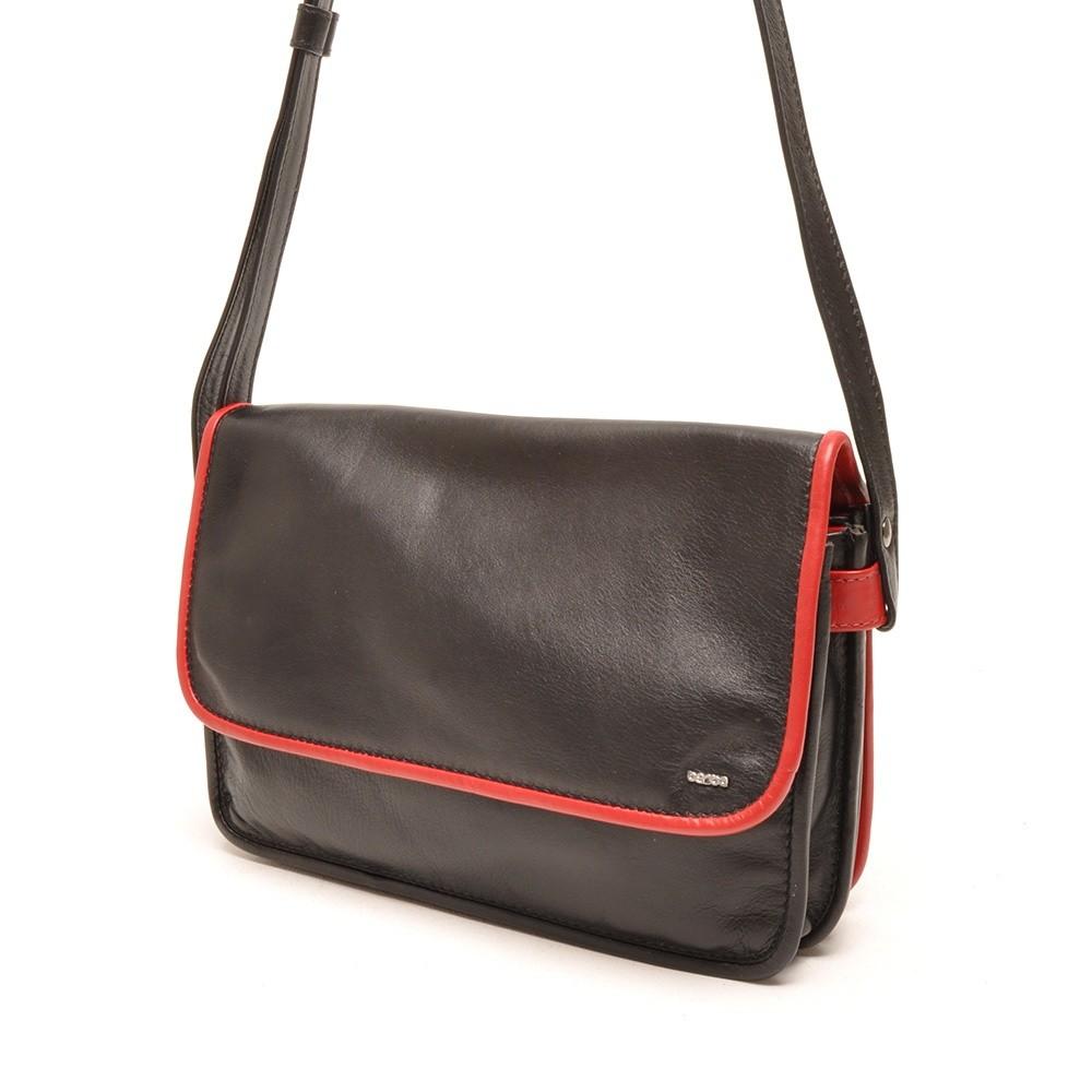 Berba Soft 005-517 Flap Bag Medium Black-Red