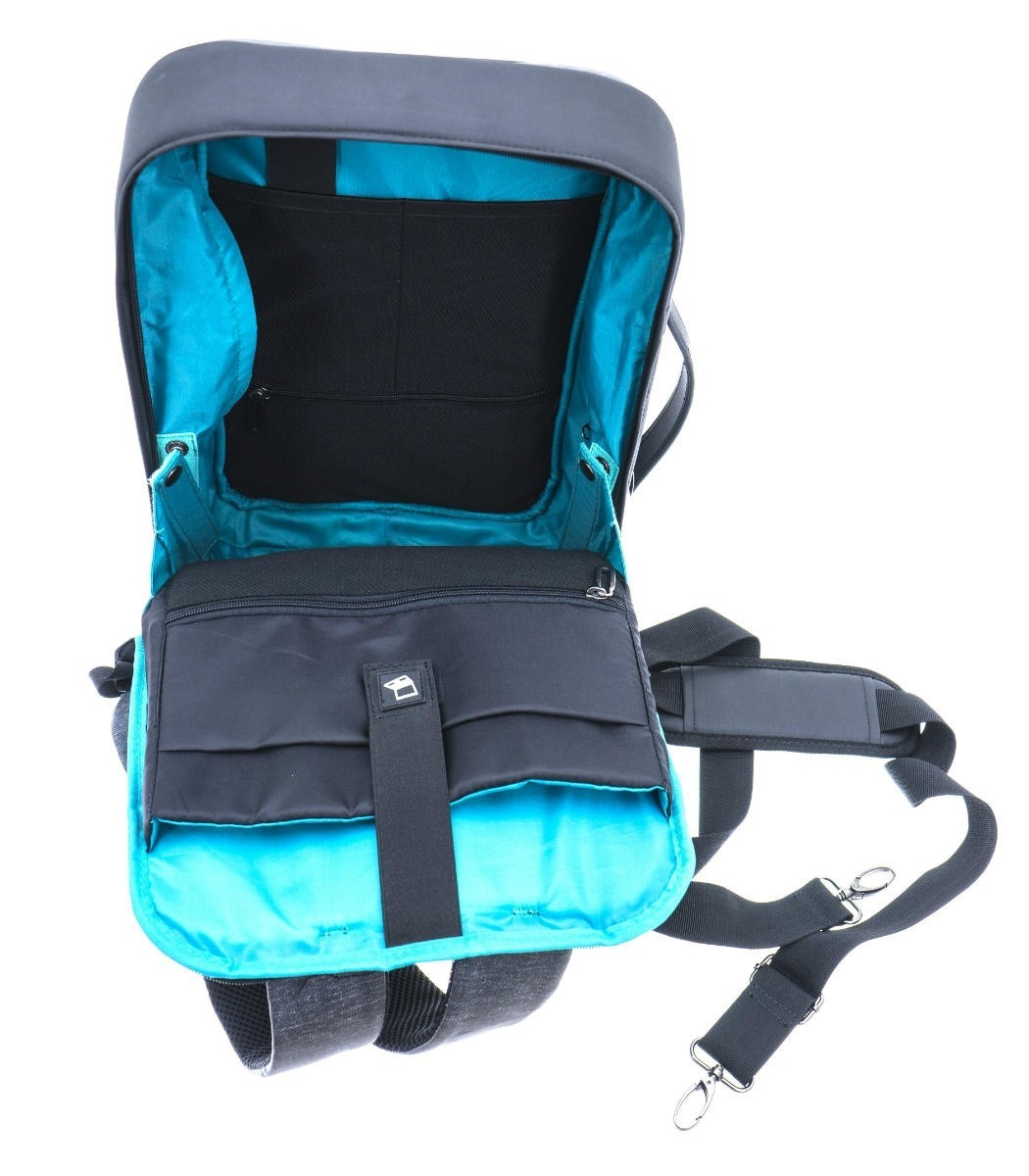 Davidts Urban Traveler Briefcase/Backpack 250125 Zwart