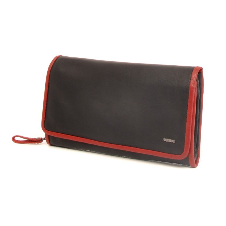 Berba Soft ladies wallet 001-503 Black-Red
