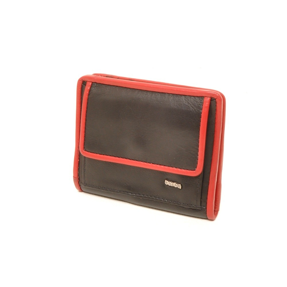 Berba Soft 001-411 Ladies Billfold Black-Red