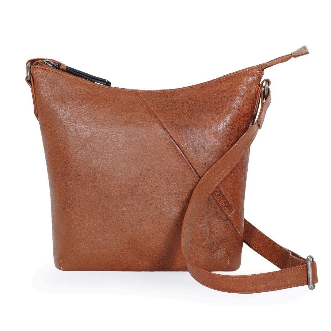GENICCI Isla Bucket Bag Cognac