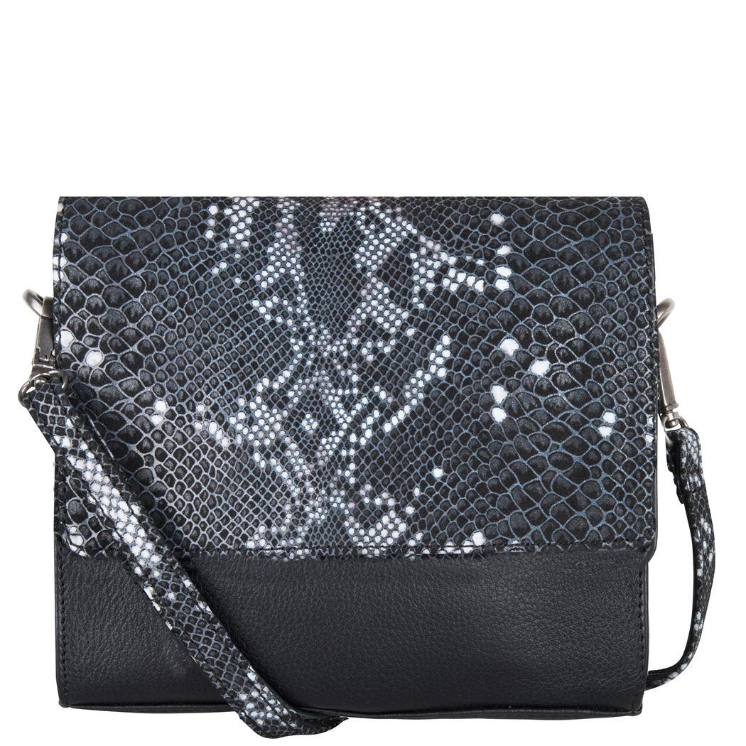Cowboysbag x Bobbie Bodt, 3059 Bag Sapphire Snake Black and White