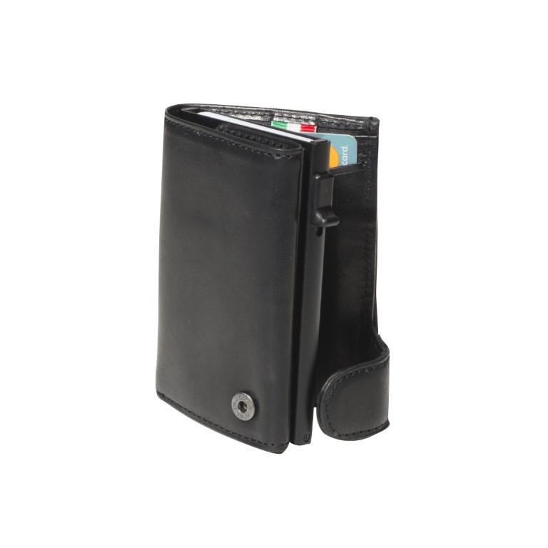 Tony Perotti - Furbo Kaarthouder met papier- en kleingeldvak - Zwart