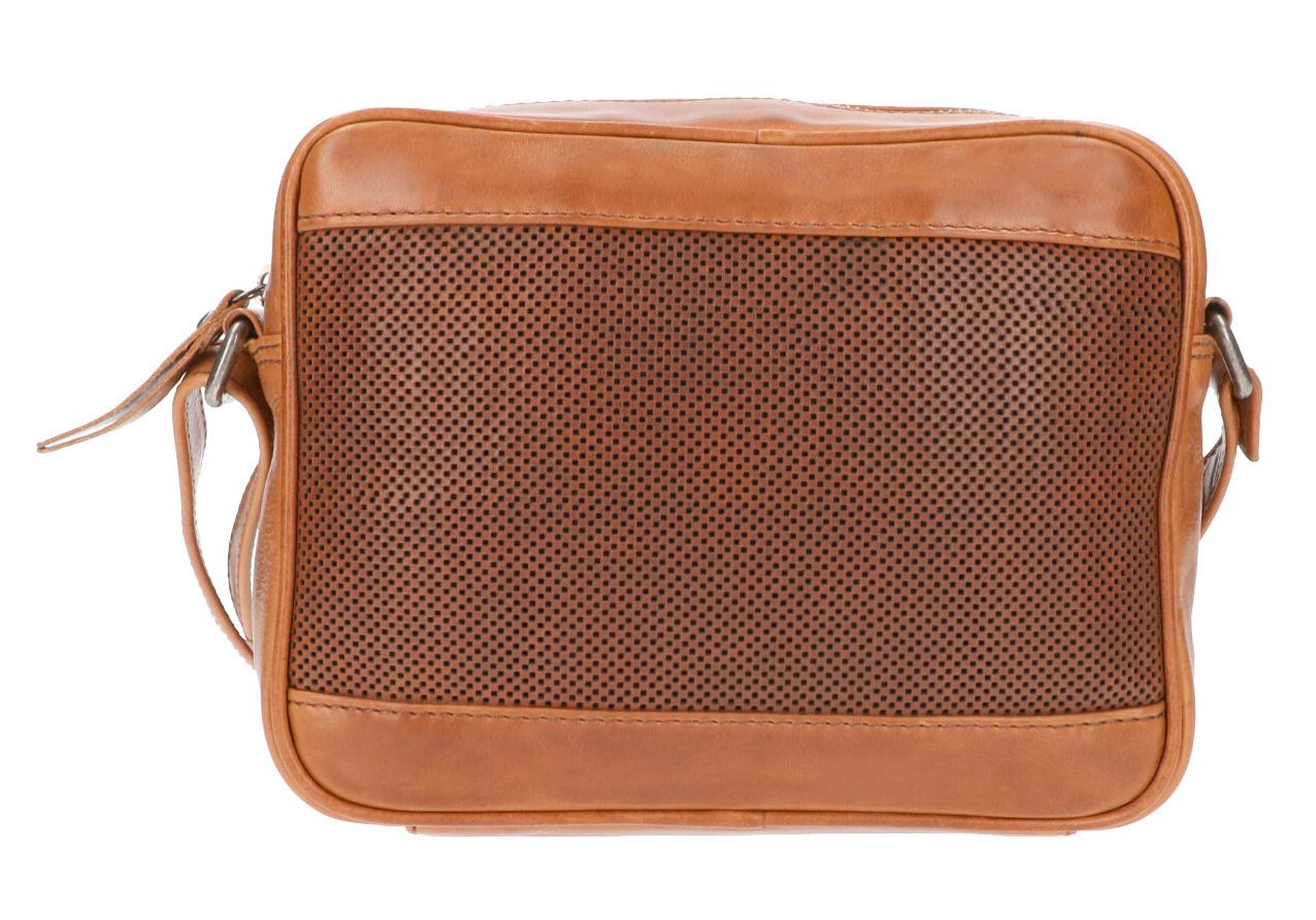 Leather Design Schoudertas DO20-821 Tobacco