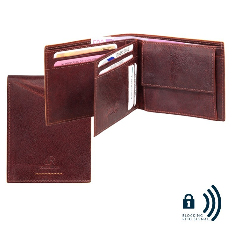 dR Amsterdam Billfold 91559 Brown