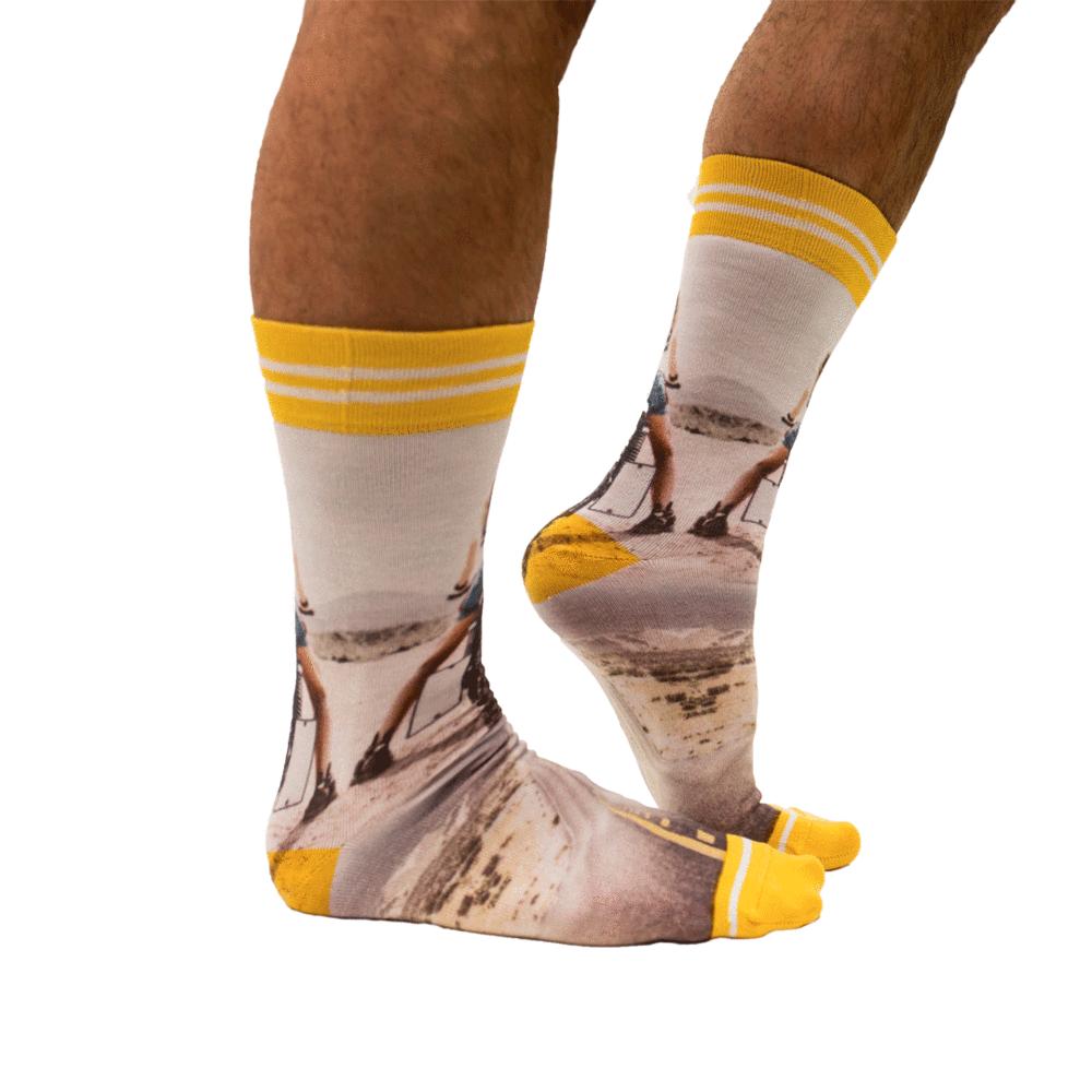 Sock My Feet Biker Chick