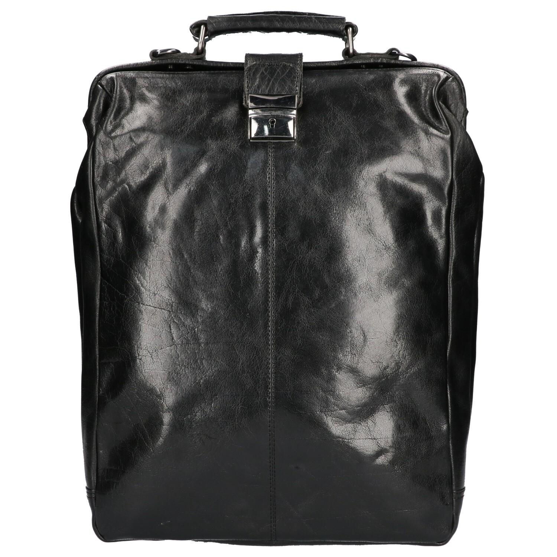 Leather Design Beugel Rugtas A4 IS 500 Zwart