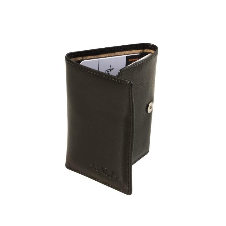 Tony Perotti - Furbo Pure Mini portemonnee met bankbiljet-kleingeldvak - Zwart