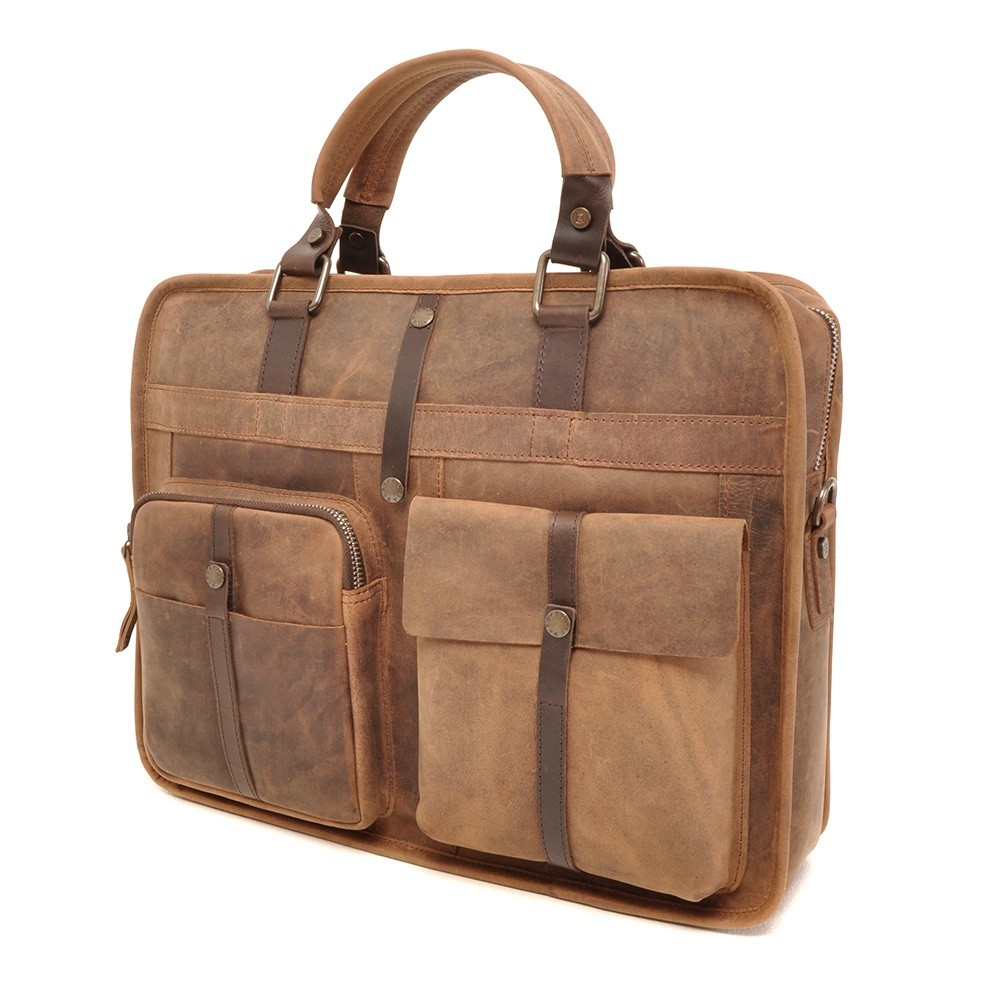 Barbarossa Ruvido 826-130 Single Section Businessbag Coffee