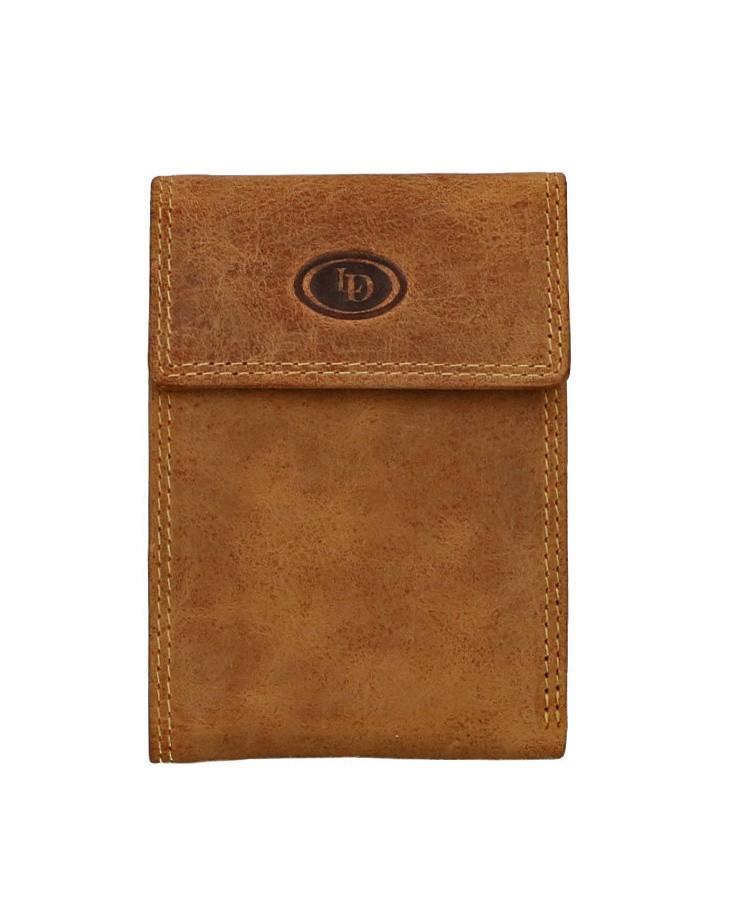 Leather Design Creditcard Etui HU 164 Bruin