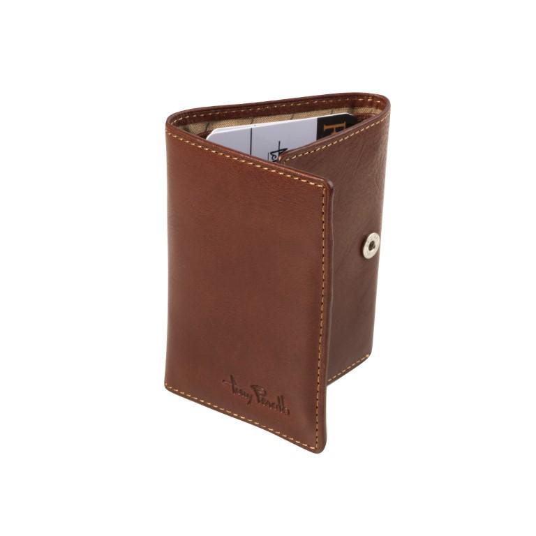 Tony Perotti - Furbo Pure Mini portemonnee met bankbiljet-kleingeldvak - Donker Bruin