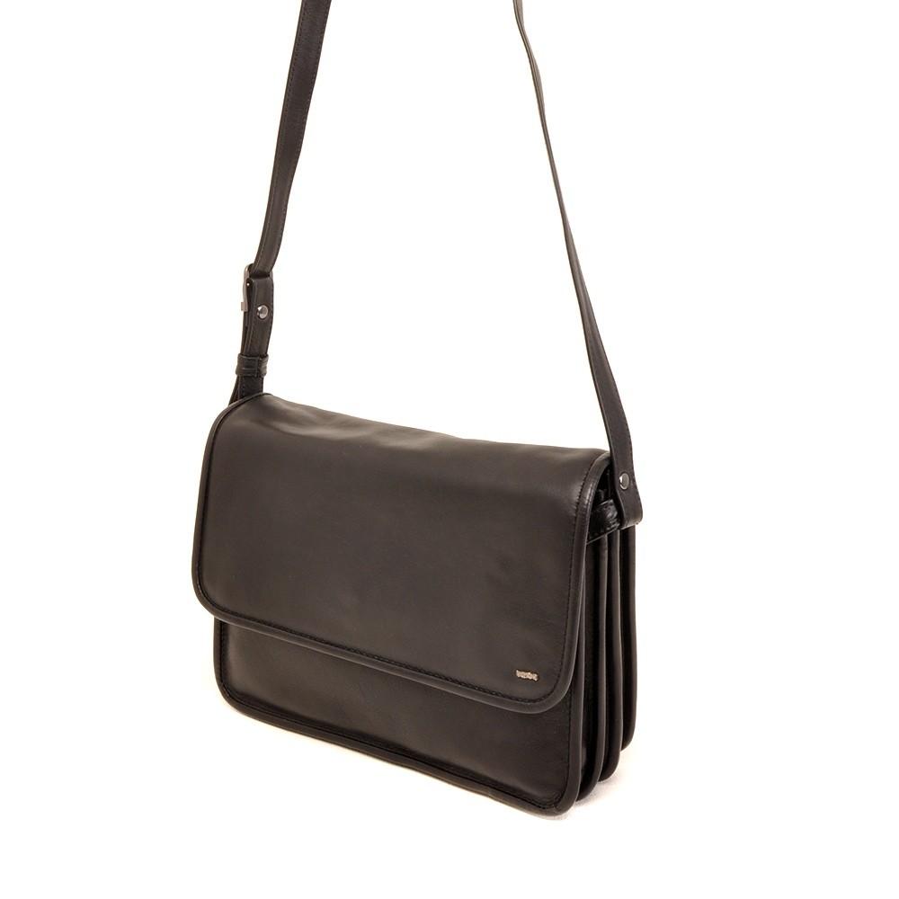 Berba Soft 005-576 Flap Bag Large Black