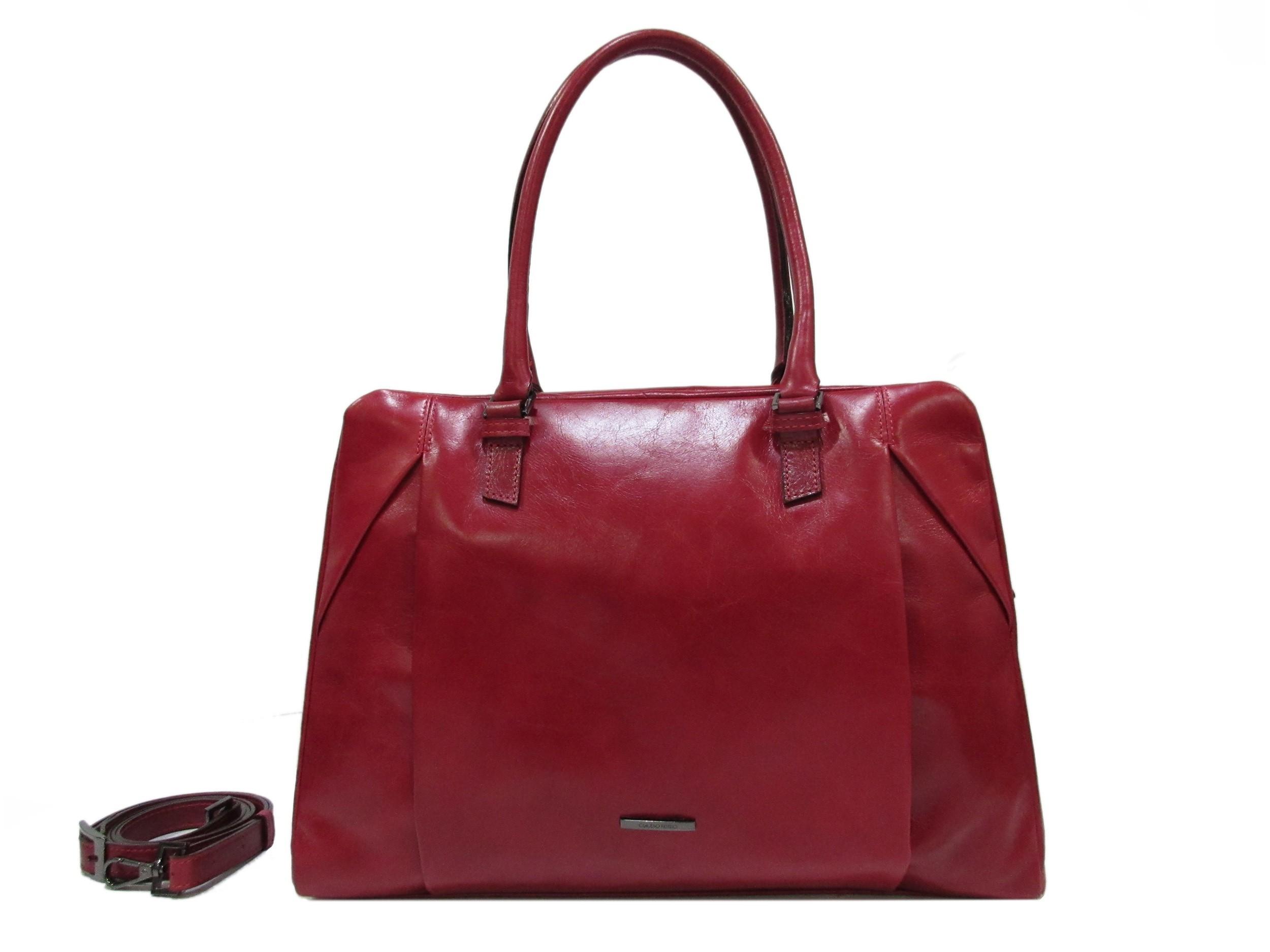 Claudio Ferrici Pelle Vecchia Business Bag 22062 Red