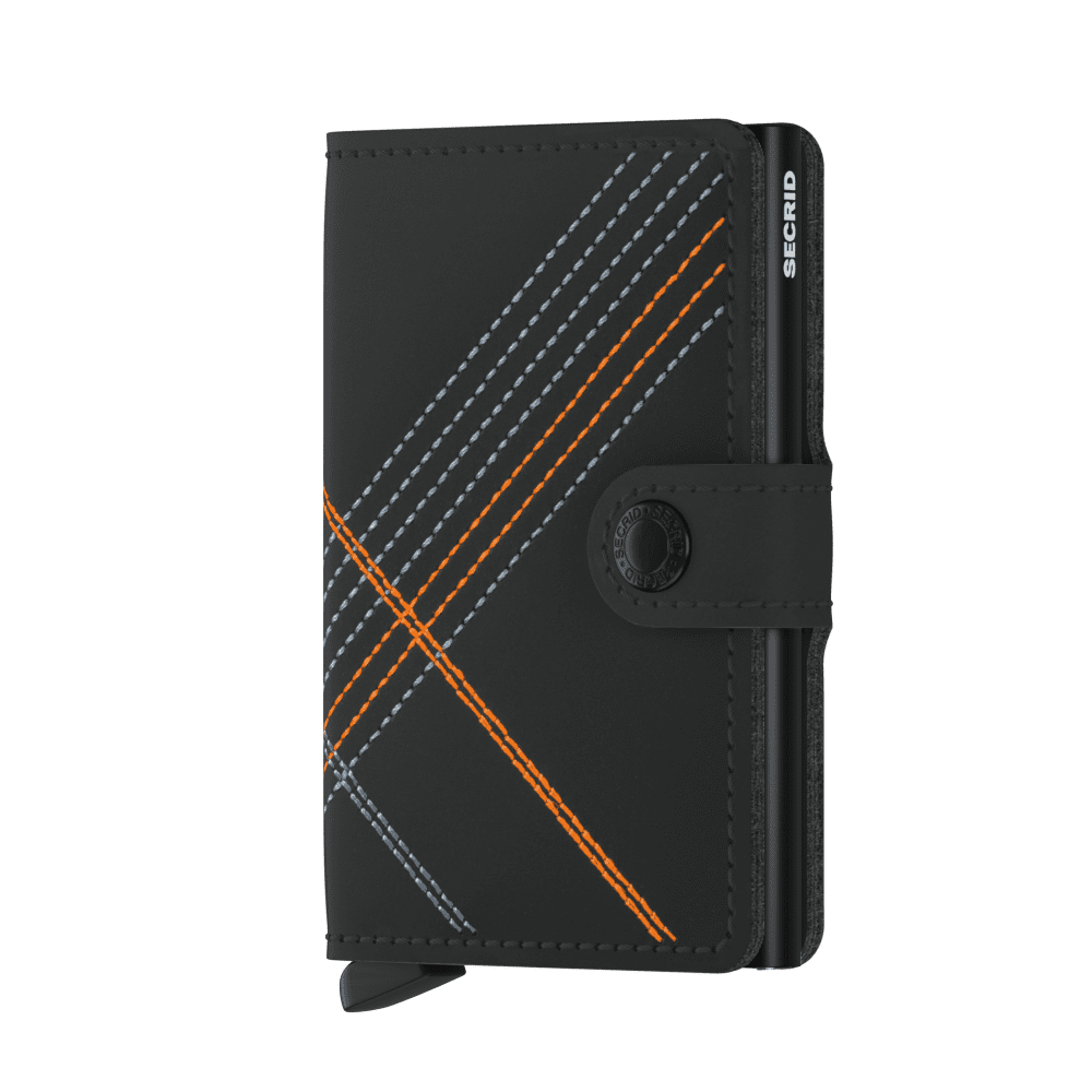Secrid Miniwallet Stitch Linea Orange