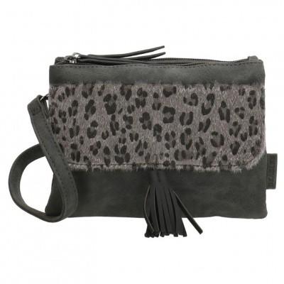 Beagles Dames Schoudertas 17900 Luipaard Zwart
