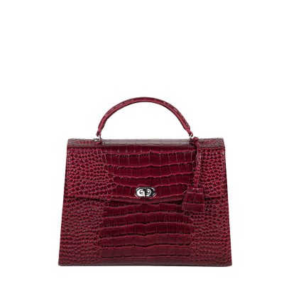 Foto van Socha Businessbag Audrey Croco Burgundy 12