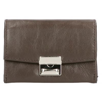 Leather Design Bakje Bak Portemonnee Slotje AK 1034 Donker Bruin