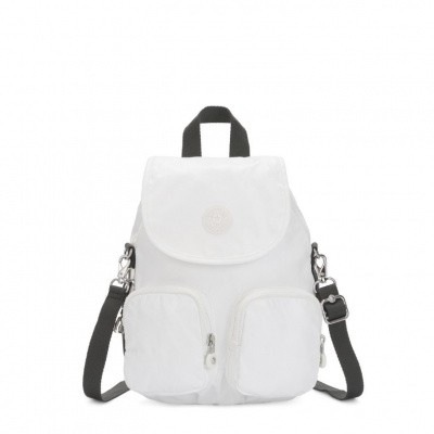 Kipling Firefly Up Rugtas White Metallic