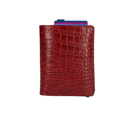 Foto van Leather Design Billfold voor Cardprotector KA 2723 CR Rood