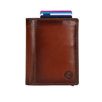 Foto van Leather Design Billfold voor Cardprotector PG 2723 Bruin