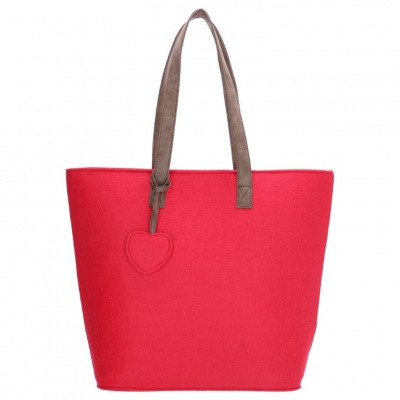 Foto van Beagles Dames Vilten Shopper 17536E-Fuchsia