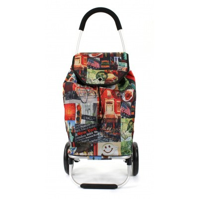 Foto van Awesome Bags Foldable Shopping Trolley M18N276 New York Print