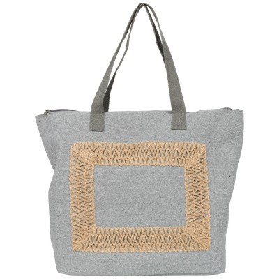 Foto van Malique Jutte Shopper Embroidery 368 Grijs