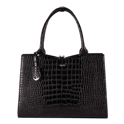 Foto van Socha Businessbag Crocodile Jet Black - 14
