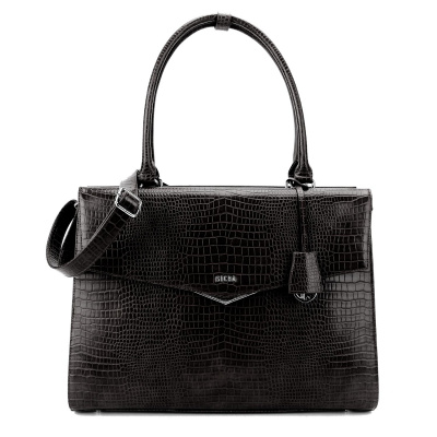 Foto van Socha Business Bag Silvertip Croco Black 15.6