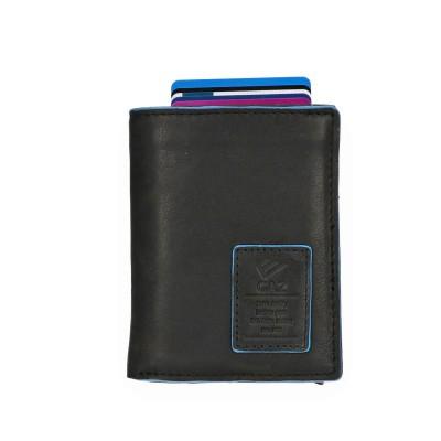 Foto van Leather Design Portemonnee voor Cardprotector LA 2924/2 Zwart