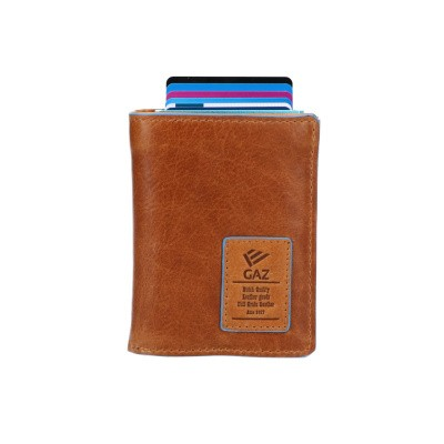 Foto van Leather Design Portemonnee voor Cardprotector LA 2924/2 Cognac