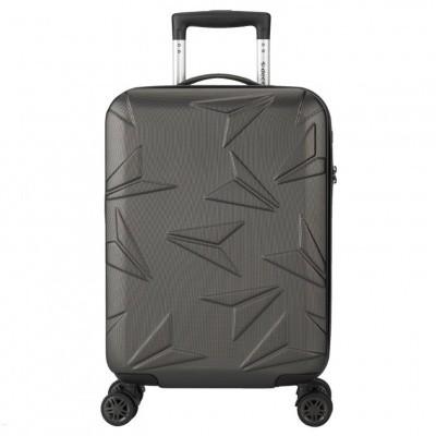 Decent Q-Luxx Spinner Handbagage Trolley 55 cm RK-7501A Antraciet
