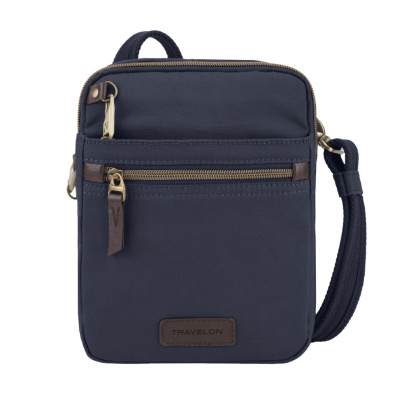 Travelon Anti-Theft Courier Small N/S Slim Bag 33306 Navy