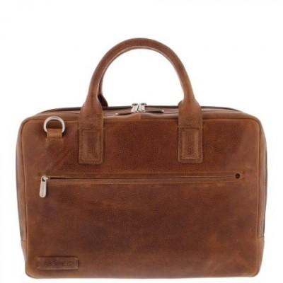 Foto van Plevier Laptoptas 'Sandyford' 15,6 inch 482 Cognac