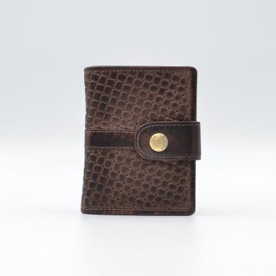 Foto van Leather Design Portemonnee voor Cardprotector KA 2924/1 Weaving Bruin