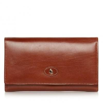 Castelijn & Beerens, 42 2402 Dames portemonnee beugel Cognac