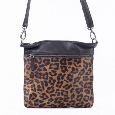 DSTRCT Dames tas 157390 Black Dark Leopard