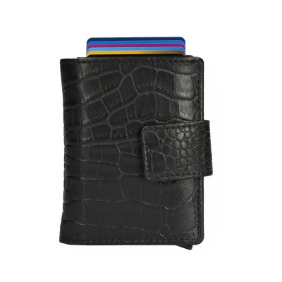 Foto van Leather Design Portemonnee voor Cardprotector KA 2924/1 CR Zwart