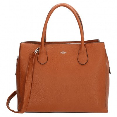 Foto van Charm London Stratford Laptoptas/Business Tas 13,3 inch 18019 Cognac