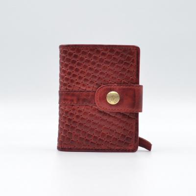 Foto van Leather Design Portemonnee voor Cardprotector KA 2924/1 Weaving Rood