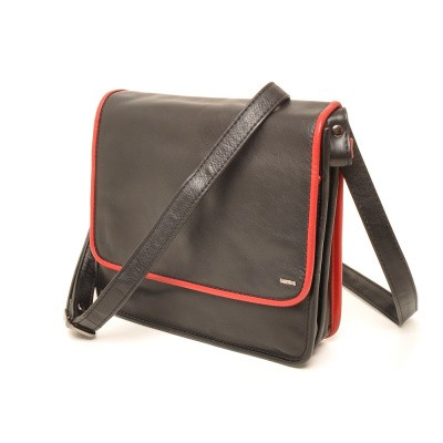 Foto van Berba Soft 005-474 Flapbag Black-Red